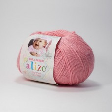 Пряжа Alize Baby wool 33 темно розовый