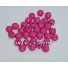 Бусины 10 мм розовые