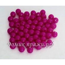 Бусины 6 мм розовые