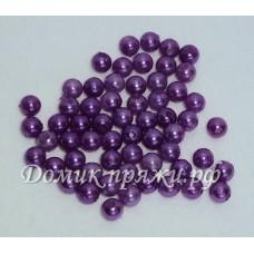 Бусины 6 мм фиолетовые