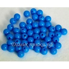 Бусины 10 мм голубые
