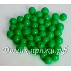 Бусины 10 мм зелёные
