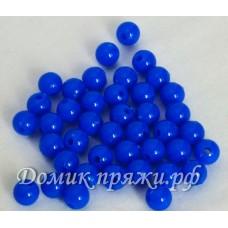 Бусины 10 мм синие