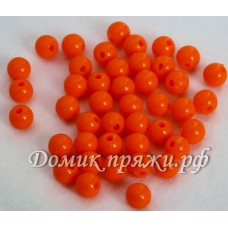 Бусины 10 мм оранж