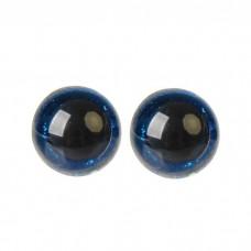 Глазки винтовые Блестки-среднее качество 18мм синий