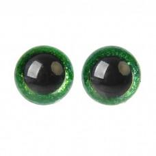 Глазки винтовые Блестки-среднее качество 12мм зеленый
