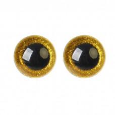 Глазки винтовые Блестки-среднее качество 12мм желтый