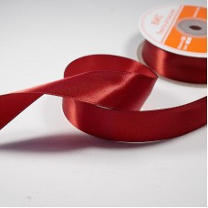 Лента атласная  25 мм арт R064 темно-красная