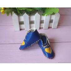 Обувь для кукол Ботиночки 7 см синие