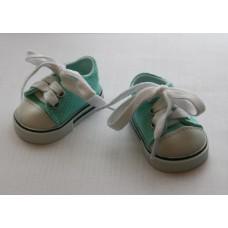 Обувь для кукол кеды 7 см мятные