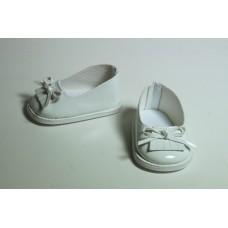 Обувь для кукол туфли лакированные 7 см белые 2
