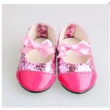 Обувь для кукол туфли кожзам 7 см розовые
