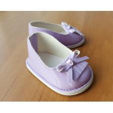 Обувь для кукол туфли лакированные 7 см сиреневые