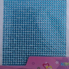 Стразы клеевые голубой 3 мм арт 2