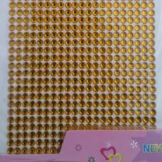 Стразы клеевые желтый 4 мм арт 3