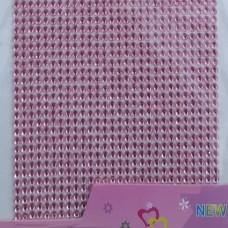 Стразы клеевые бледно розовый 3 мм арт 6