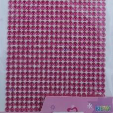 Стразы клеевые ярко розовый 4 мм арт 8