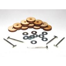 Набор креплений фанера №15 23538 10 дисков 15мм,10 шайб 3*9,5 Т-шпл 2см