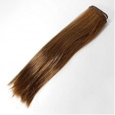Волосы прямые трессы h25-28 см лесной орех