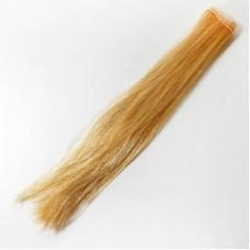Волосы прямые трессы h25-28 см золотистый Р03