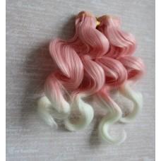 Трессы волна 15 см персик-белый В15-07 два цвета