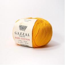 Газзал Беби коттон 3416 ярко-жёлтый