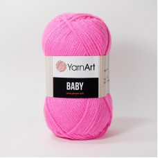 Ярнарт Беби 174 розовый неон
