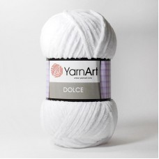 Yarnart Dolce цвет 741 белый