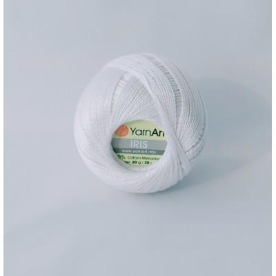 Пряжа Yarnart Iris 910 белый