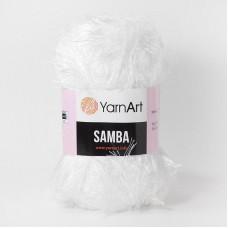 Yarnart Samba 01  белый