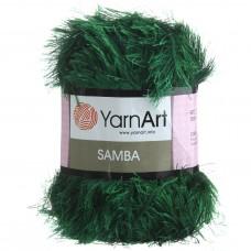 Yarnart Samba 200 темно-зелёный