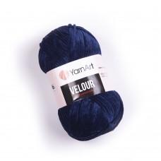 Yarnart Velour 848 темно-синий