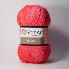 Yarnart Velour 853 малиновый