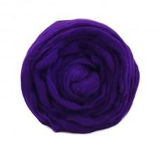 Шерсть для валяния ТР полутонкая 100 гр 0037 т.фиолетовый