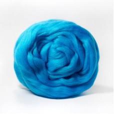 Шерсть для валяния ТР полутонкая 100 гр 474 голубая бирюза